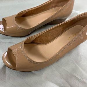 Cole Haan size 7.5 wedge peep toes